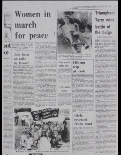 Page 3 from the Western Mail, dated Friday, 28 August 1981